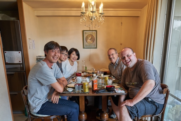 Then we visited Yosuke Naito in his home for a delicious meal.